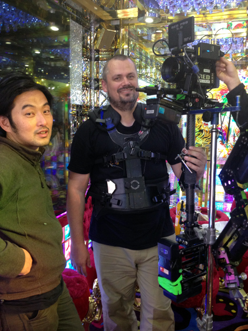 SteadiCam crew standing by to shoot!