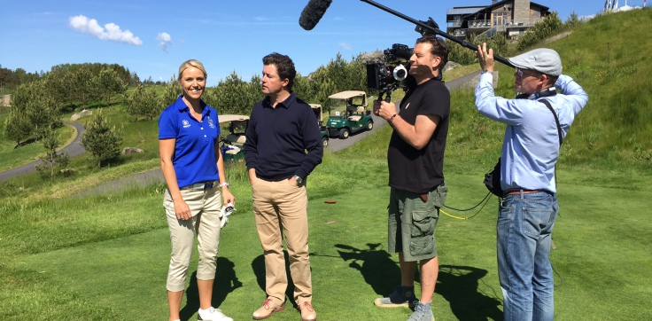 GOLF PRO CARIN KOCH INTERVIEWED FOR CNN